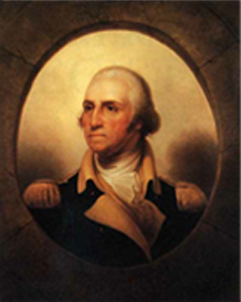 "Rembrandt Peale's ""Porthole"" portrait of George Washington"